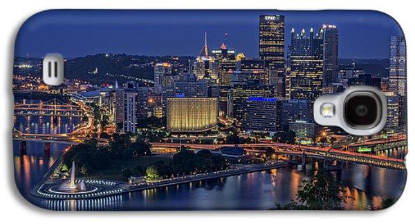 Steel City Glow Galaxy S4 Case by Rick Berk
