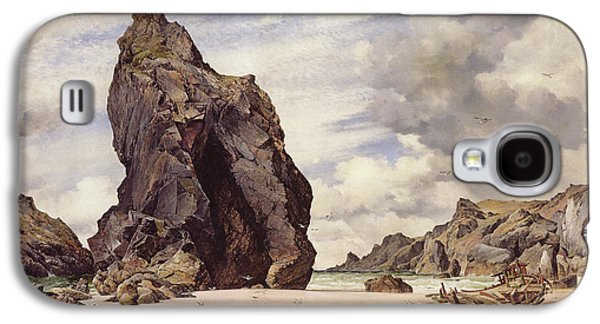 Steeple Rock, Kynance Cove, Lizard, Cornwall, Low Water, 1873 Galaxy S4 Case by Edward William Cooke