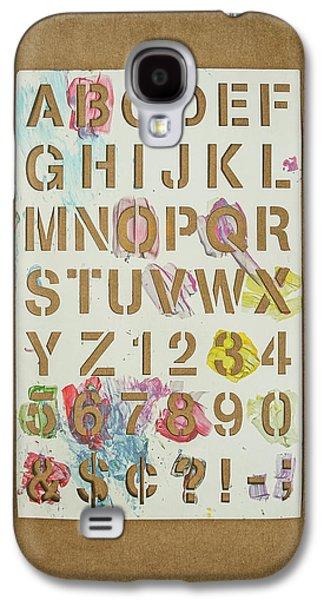 Stencil Alphabet Fun Galaxy S4 Case by Scott Norris