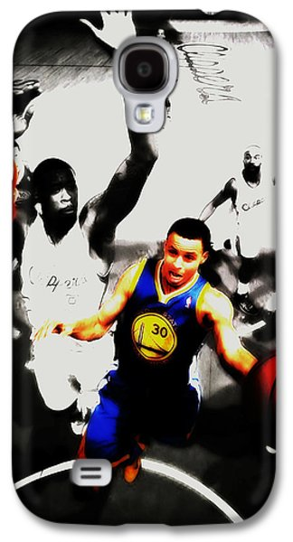Stephen Curry Going Left Hand Galaxy S4 Case by Brian Reaves