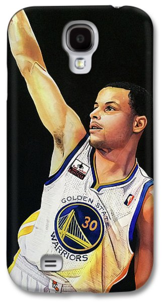 Stephen Curry Gold State Warriors Galaxy S4 Case by Michael  Pattison