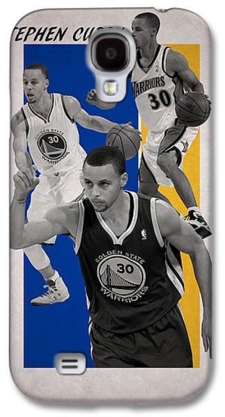 Stephen Curry Golden State Warriors Galaxy S4 Case by Joe Hamilton