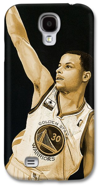 Stephen Curry Golden State Warriors   Galaxy S4 Case by Michael  Pattison