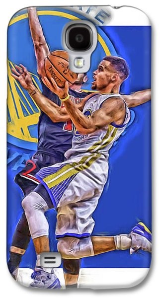 Stephen Curry Golden State Warriors Oil Art Galaxy S4 Case by Joe Hamilton