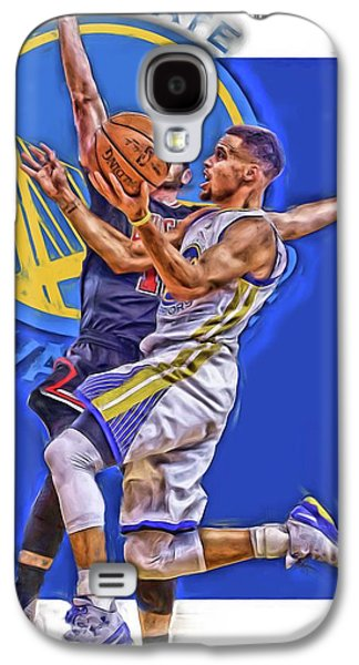 Stephen Curry Golden State Warriors Oil Art Galaxy S4 Case