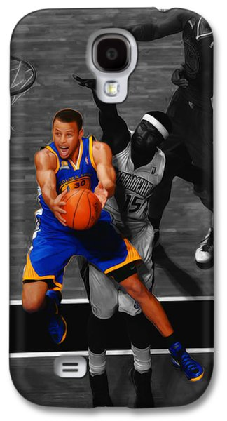 Stephen Curry In Flight Galaxy S4 Case by Brian Reaves