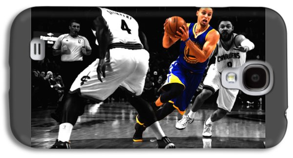 Stephen Curry On The Move Galaxy S4 Case by Brian Reaves