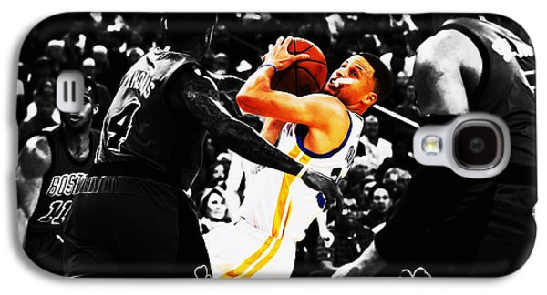 Stephen Curry Stay Focused Galaxy S4 Case by Brian Reaves