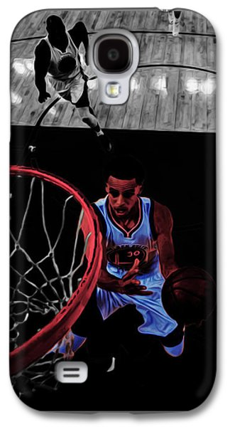 Stephen Curry Taking Flight Galaxy S4 Case by Brian Reaves