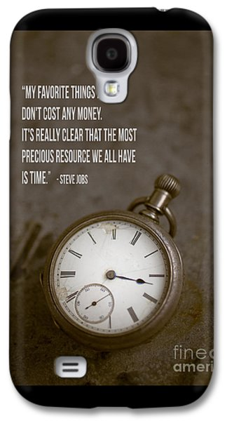 Steve Jobs Time Quote Galaxy S4 Case