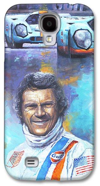 Steve Mcqueen Le Mans Porsche 917 Galaxy S4 Case by Yuriy Shevchuk