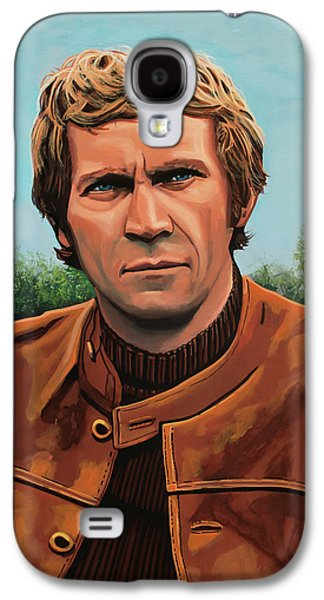 Steve Mcqueen Painting Galaxy S4 Case by Paul Meijering