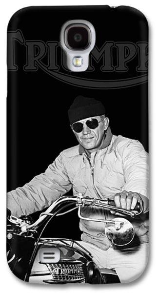 Steve Mcqueen Triumph Galaxy S4 Case by Mark Rogan