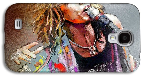 Steven Tyler 02  Aerosmith Galaxy S4 Case by Miki De Goodaboom