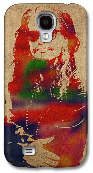 Steven Tyler Galaxy S4 Case - Steven Tyler Watercolor Portrait Aerosmith by Design Turnpike