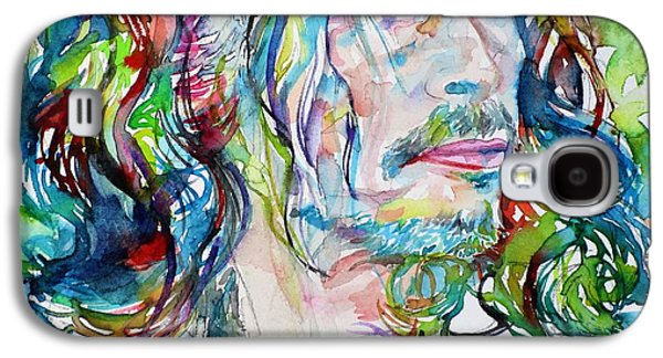 Steven Tyler Galaxy S4 Case - Steven Tyler - Watercolor Portrait by Fabrizio Cassetta