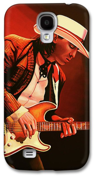 Stevie Ray Vaughan Painting Galaxy S4 Case by Paul Meijering