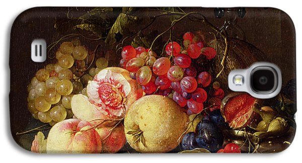 Still Life Galaxy S4 Case by Cornelis de Heem
