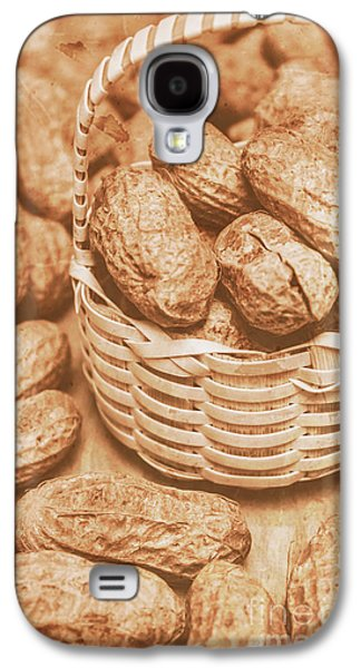 Still Life Peanuts In Small Wicker Basket On Table Galaxy S4 Case by Jorgo Photography - Wall Art Gallery