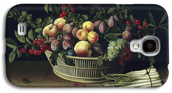 Still Life With A Basket Of Fruit And A Bunch Of Asparagus Galaxy S4 Case by Louise Moillon