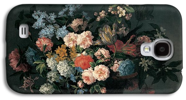 Still Life With Basket Of Flowers Galaxy S4 Case by Jean-Baptiste Monnoyer