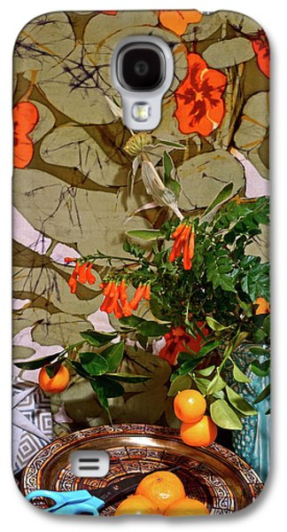 Still Life With Blue Scissors 2 Galaxy S4 Case by Bonnie See
