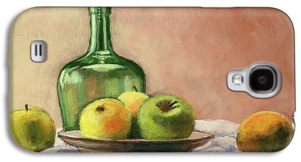 Still Life With Bottle Galaxy S4 Case by Janet King