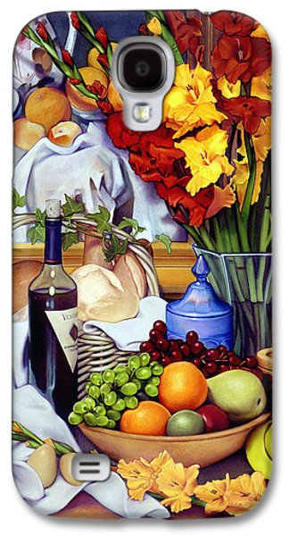 Pears Paintings Galaxy S4 Cases - Still Life with Cezanne Galaxy S4 Case by Patrick Anthony Pierson