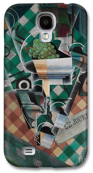 Still Life With Checked Tablecloth Galaxy S4 Case by Celestial Images