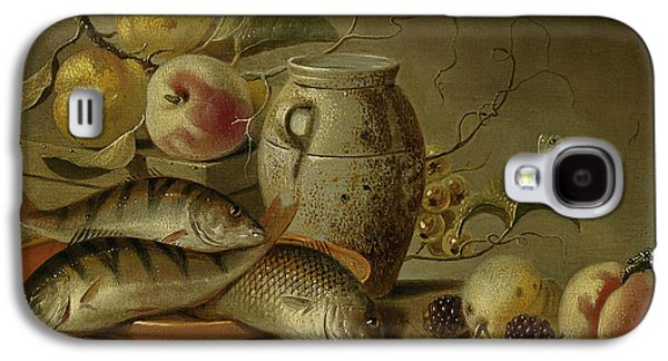 Still Life With Clay Jug, Fish And Fruits Galaxy S4 Case by Harmen Steenwijck
