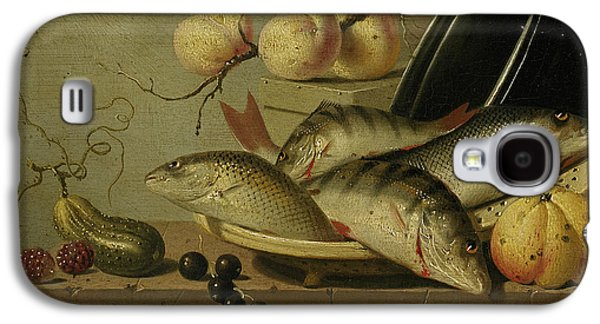 Still Life With Fish And Fruits Galaxy S4 Case by Harmen Steenwijck