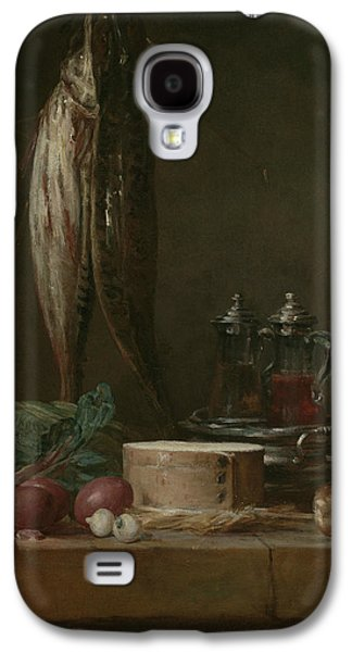 Still Life With Fish, Vegetables, Gougeres, Pots, And Cruets On A Table  Galaxy S4 Case by Jean-Baptiste-Simeon Chardin