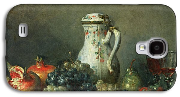 Still Life With Grapes And Pomegranates Galaxy S4 Case by Jean-Baptiste Simeon Chardin