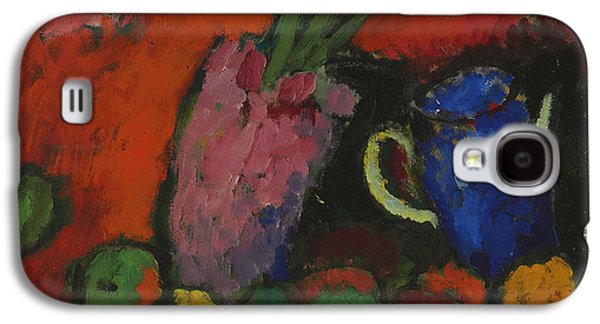 Still Life With Hyacinth, Blue Pitcher And Apples Galaxy S4 Case by Alexej von Jawlensky