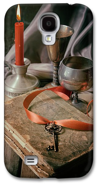 Still Life With Old Book And Metal Dishes Galaxy S4 Case by Jaroslaw Blaminsky