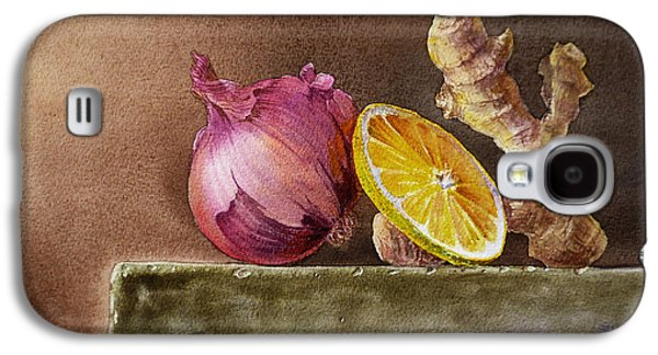 Vegetables Galaxy S4 Case - Still Life With Onion Lemon And Ginger by Irina Sztukowski