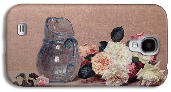 Ledge Galaxy S4 Cases - Still Life with Roses Galaxy S4 Case by Ignace Henri Jean Fantin-Latour
