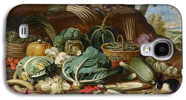 Still Life With Vegetables And A Rabbit Still Life With Fish And Cats In The Kitchen Galaxy S4 Case by Jan van Kessel