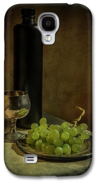 Still Life With Wine And Green Grapes Galaxy S4 Case