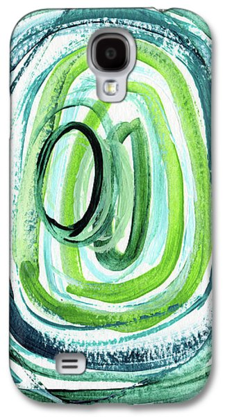 Still Orbit 9- Abstract Art By Linda Woods Galaxy S4 Case by Linda Woods