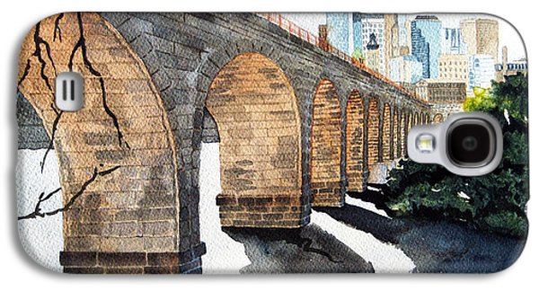 Bridges Galaxy S4 Case - Stone Arch Bridge Watercolor by Michele Angel