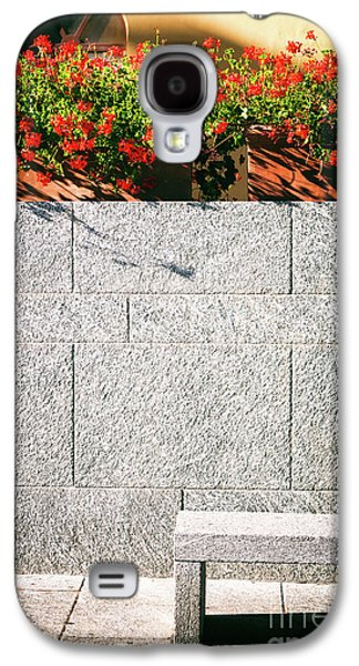 Galaxy S4 Case featuring the photograph Stone Bench With Flowers by Silvia Ganora