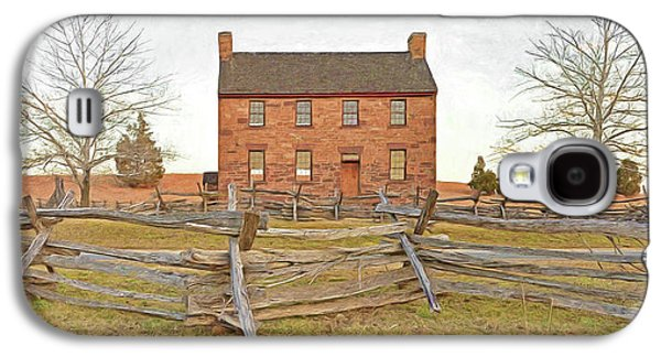 Stone House / Manassas National Battlefield / Winter Morning Galaxy S4 Case by Digital Photographic Arts