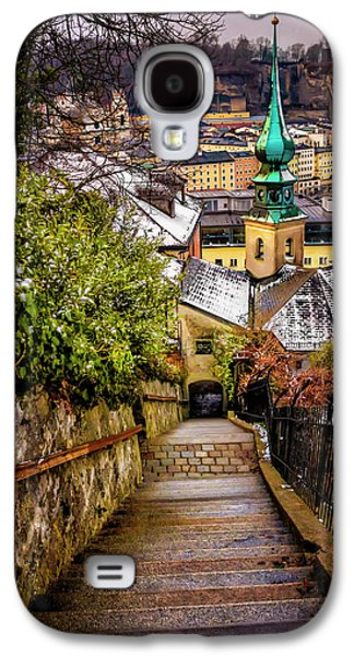 Stone Steps Of Kapuzinerberg Salzburg In Winter Galaxy S4 Case by Carol Japp