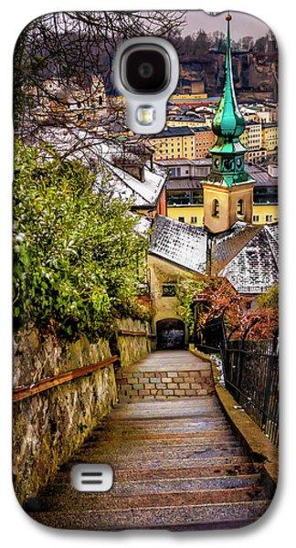 Stone Steps Of Kapuzinerberg Salzburg In Winter Galaxy S4 Case by Carol Japp