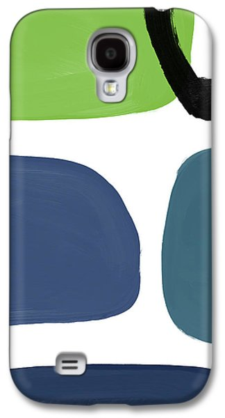 Stones 7- Modern Art By Linda Woods Galaxy S4 Case by Linda Woods