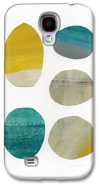 Stones- Abstract Art Galaxy S4 Case by Linda Woods