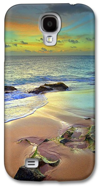 Stones In The Sand At Sunset Galaxy S4 Case by Tara Turner