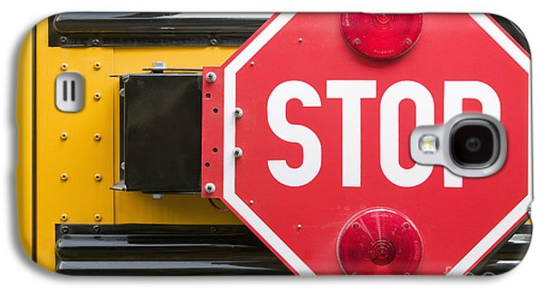 Stop Sign Galaxy S4 Cases - Stop Sign on School Bus Galaxy S4 Case by Andersen Ross