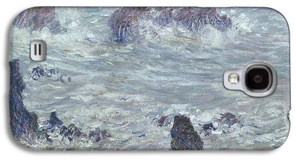 Storm Off The Coast Of Belle Ile Galaxy S4 Case by Claude Monet